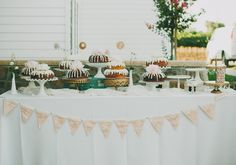 Bunt cake dessert table | photo by Chantel Marie | 100 Layer Cake