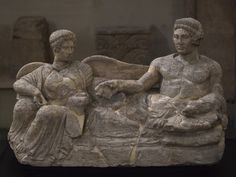Etruscan cinerary statue for two (bisoma). Photo by Ilya Shurygin. Western World, Minoan, Firenze, Statue, Roman Empire, Ancient Art, Romans, Religion, Culture