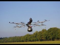 ▶ World's first manned flight with an electric multicopter - YouTube