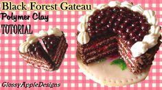 Miniature Polymer Clay Black Forest Gateau/Cake TUTORIAL (+playlist)