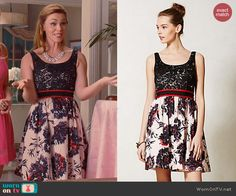 AnnaBeth's lace top and floral skirted dress on Hart of Dixie.  Outfit Details: http://wornontv.net/42321/ #HartofDixie