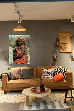 African Style Living Room Design Adorable Secret Ingredient For A Welltraveled Room  Dark Walls Room And Design Decoration