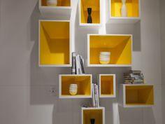 etageres boites jaunes