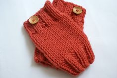 Knit Baby Leg Warmers Hand Knit Coral Leg Warmers by BambinoStore