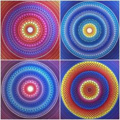 Vibrant mandalas hand painted by Elspeth McLean
