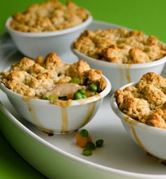 Recipes from The Nest - Biscuit-Topped Turkey Potpie: make and freeze filling with leftover turkey and use Bisquick for topping for easy post baby meal?