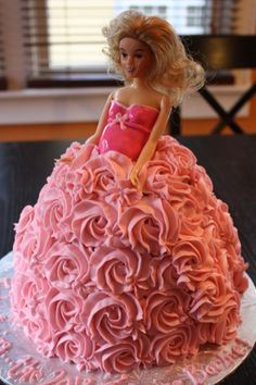 A Pregnant Barbie Baby Shower Cake