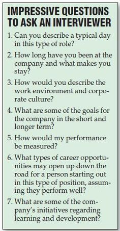"""""""A list of questions you should ask during your job interview"""" kill em"""