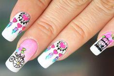 Indian Nails, Mandala Nails, Manicure And Pedicure, Pretty Nails, Eye Makeup, Nail Designs, Nail Art, Painting, Beauty