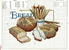Archivio album Free Cross Stitch Charts, Cross Stitch Patterns, Cross Stitching, Cross Stitch Embroidery, Cross Stitch Kitchen, Charts And Graphs, Chart Design, Cross Stitch Flowers, Needlepoint