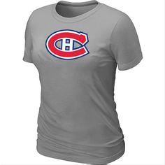 NHL Montreal Canadiens Big & Tall Women's Logo T-Shirt - L.Grey [Montreal Canadiens T Shirts 030] - $12.95 : Cheap Hockey Jerseys