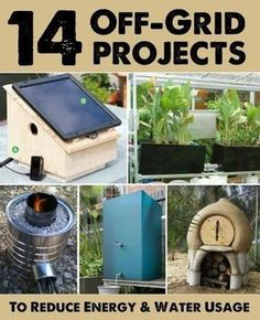 14 Off-Grid Projects To Reduce Your Energy & Water Usage - Homestead & Survival Homestead Survival, Camping Survival, Survival Prepping, Emergency Preparedness, Survival Skills, Survival Shelter, Emergency Water, Off Grid Survival, Survival Weapons