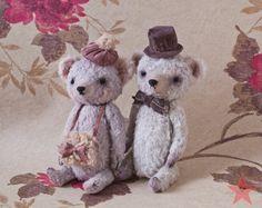 Artist teddy bear OOAK 6 inch small handmade от mishafromrussia
