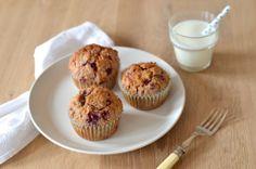 Raspberry Oat Breakfast Muffins