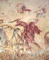 Imagen de 'El rapto de Perséfone' (s. IV a.C.), fresco encontrado en la tumba Vergina (Macedonia). Uno de las pocas pinturas de la Antigua Grecia que se conocen.