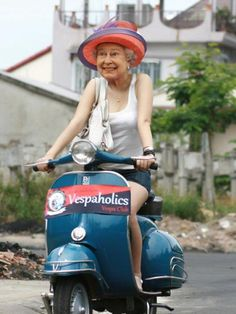 KEEP CALM & FOLLOW HRH  ***on her Vespa!***