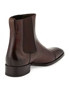 Mens Brown Boots, Red Boots, Men S Shoes, New Shoes, Tom Ford Jeans, How To Tie Shoes, Mens Bootcut Jeans, Leather Chelsea Boots, Designer Boots