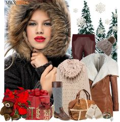 """Let it snow!"" by wannanna ❤ liked on Polyvore"