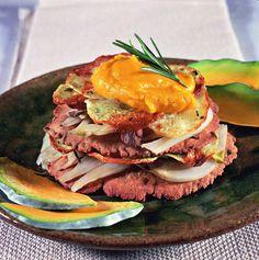 Millefoglie di castagne con finocchi, patate gratinate e salsa di zucca allo zenzero - Cucina Naturale
