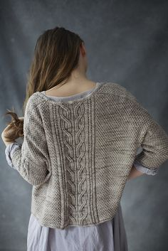 Ravelry: Sous Sous pattern by Norah Gaughan. KAL starts on 1st Feb - possibly make one in John Arbon Viola, Unpredictable shade? Or Old Maiden Aunt Corriedale? Make front straight across not v-shaped.