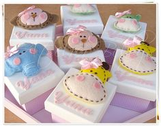 cute boxes. one's a hippo!