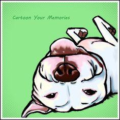 Pit bull Art Print by cartoonyourmemories on Etsy, $10.00