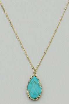 Turquoise Teardrop Pendant Necklace #necklace #jewellery amusemeboutique.com