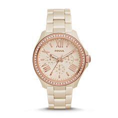 Fossil Cecile Multifunction Ceramic Watch – Toasted Almond ❤️❤️❤️❤️