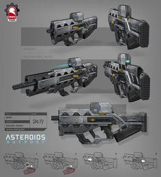 ArtStation - Asteroids: Outpost - Assault Rifle, Kris Thaler