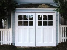 REAL Carriage Doors for your carriage house built and installed to open as Swing-out Carriage Doors. Other opening styles for these Hinged Carriage Doors include: Swing-out, Slide, or Fold. The choice is yours for a real carriage house door! Carriage Style Garage Doors, Garage Remodel, Garage Door Replacement, Carriage House Doors, House Doors, Garage Door Types, Door Plan, House Exterior, Garage Floor Paint