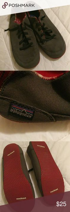 Patagonia Mens super nice  Not wore often bottoms look good tops look good Gray with red bottoms only flaw is one is missing a sole Patagonia Shoes Loafers & Slip-Ons