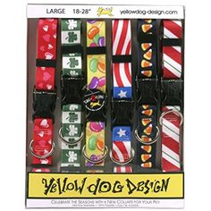 """Yellow Dog Design Seasonal Dog Collar Calendar Pack with Tag-A-Long-Size Large-1"""" Wide and fits Neck 18 to 28"""" >>> Check this awesome product by going to the link at the image. (This is an affiliate link) #CollarsHarnessesLeashes"""