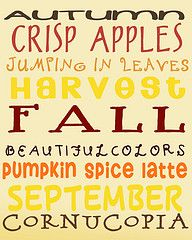 Love it :)  Fall, fall, fall!!!