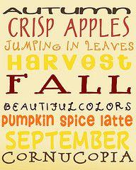 Love it :)  Fall, fall, fall!!!