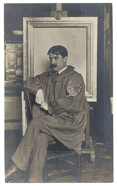 Citation: Bruce Crane, ca. 1900 / unidentified photographer. Photographs of artists donated by the Worcester Art Museum, Archives of American Art, Smithsonian Institution.