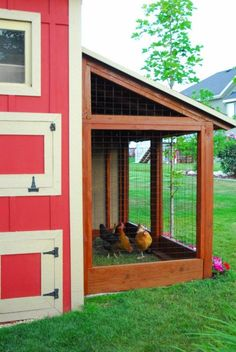 DIY Storage Shed with Chicken Coop and Chicken Run by Chalkboardblue featured on Remodelaholic