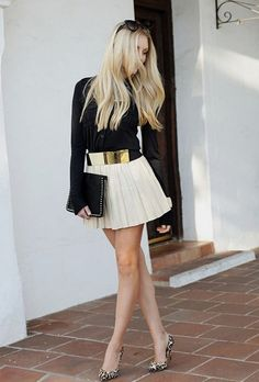 Skirt Outfits, Sexy Outfits, Chic Outfits, Summer Outfits, Women's Fashion Dresses, Skirt Fashion, Blond, Women With Beautiful Legs, Sexy Legs And Heels