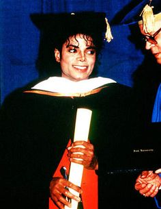 Honorary Doctor Degree for Michael Jackson 1988