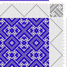 Hand Weaving Draft: Threading Draft from Divisional Profile, Tieup: Donat, Franz…
