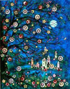 """wasbella102: """"Moonlight Summer Village by Vadal """""""