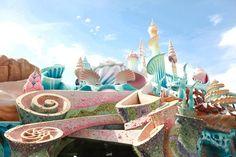 Mermaid lagoon @Tokyo Japan Disneyland. Photo by The Cherry Blossom Girl.