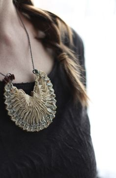 smocked silk necklace by Tinctory on Flickr