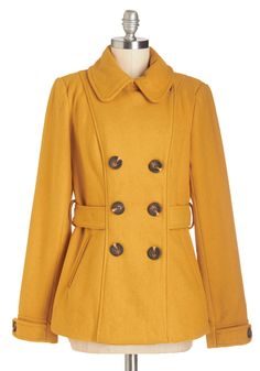 Farm Here to Eternity Coat in Mustard, #ModCloth