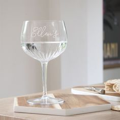 How about this for a gift for the Gin Lover in your life? Personalise this Crystal Copa De Balon Gin Glass to make it extra special. Engrave on the side with script font up to 25 characters.