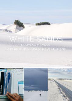 Un parc peu connu au sud du Nouveau Mexique où on trouve des dunes de sable blanc, un blanc immaculé, au milieu du désert et des montagnes. Magique !