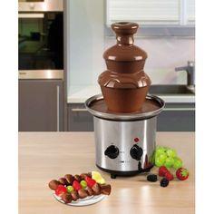 Clatronic Fuente chocolate SKB 3248    Fuente para chocolate caliente     Pies regulables en altura para un flujo perfecto del chocolate     Fabricada en Acero Inox     Motor y termostato con funcionamiento por separado     Base antideslizante     Capacidad de 1 Kg de cocholate aproximadamente.     Voltaje 230 V 50 Hz     Potencia 170 W