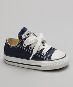 Take a look at this Navy Low Sneaker - Infant & Toddler on zulily today!