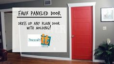 DIY Faux Paneled Doors:  Doors can be pricey, especially ones with details that set them apart and give them that high-end feel. Here's how to fake that look with just a little bit of trim and some high-gloss paint to give your room an upscale look on a low budget: http://livewelln.co/SYuun6