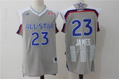 a115e527a264 Cavaliers 23 LeBron James Gray 2017 NBA All-Star Game Swingman Jersey