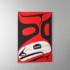 "Note from TeamMona: ""Canoe Breaker"" Limited edition serigraph print by Haida artist Robert Davidson 2010. Southeast Wind is represented here by an image of the killer whale, which becomes human when on land."